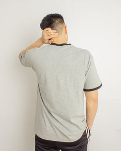 Japanese Heavyweight 230gsm Ringer Tee Unisex (Grey+Black)