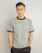 Load image into Gallery viewer, Japanese Heavyweight 230gsm Ringer Tee Unisex (Grey+Black)
