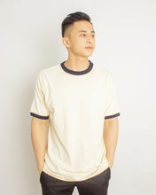 Load image into Gallery viewer, Japanese Heavyweight 230gsm Ringer Tee Unisex (Apricot + Black)