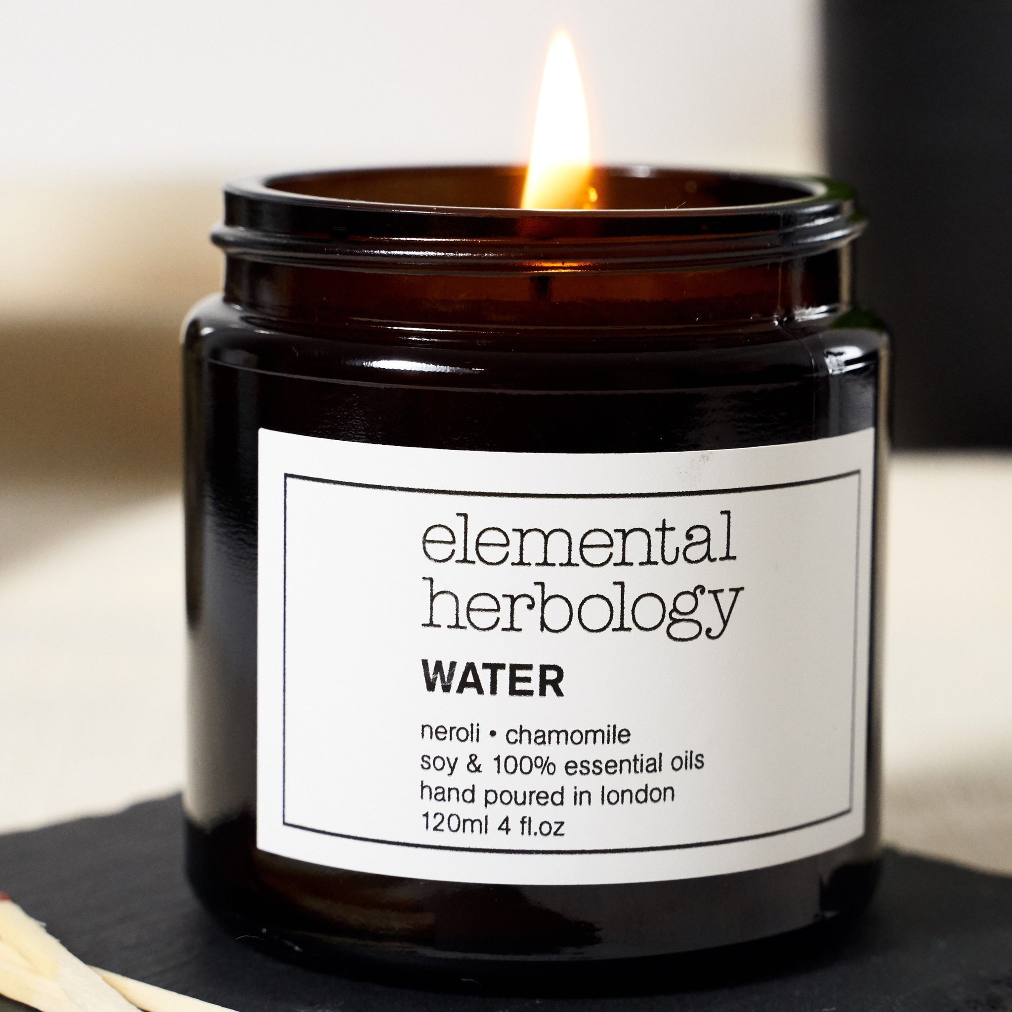 Water Soothe Aromatherapy Soy Wax Candle, Elemental Herbology