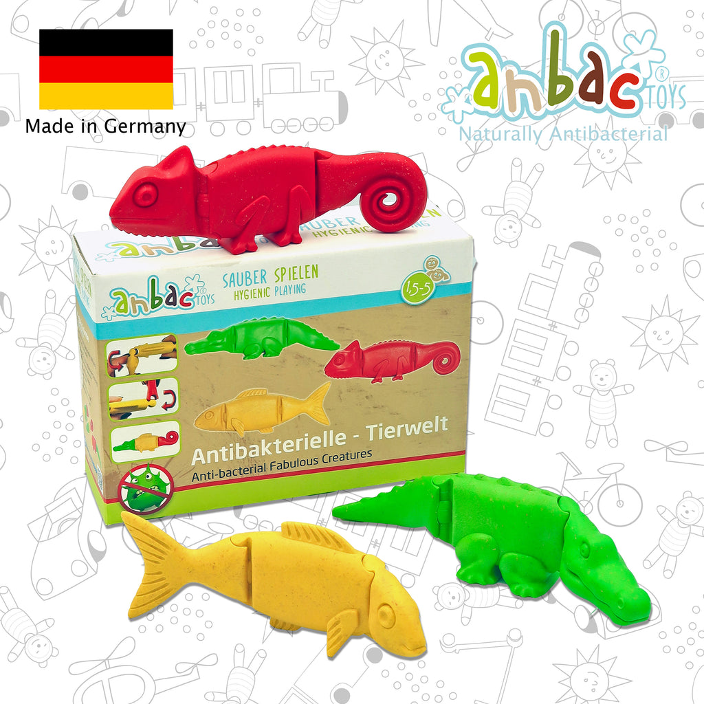 toddler toy animal toy chamaeleon crocodile fish red green yellow toy