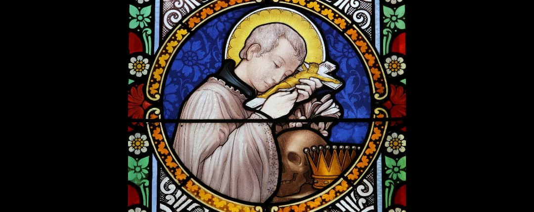 Repersentation of a Saint with a Skull