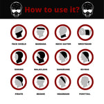 How to use Skull Mask Bandana  Cartoon