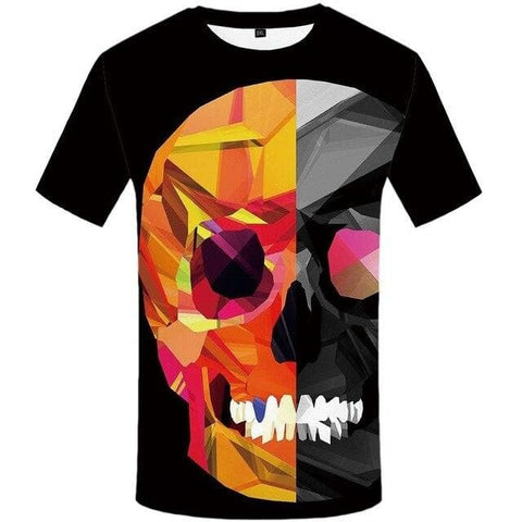 Black T-Shirt with Skull