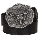 Cow Skull Belt Buckle