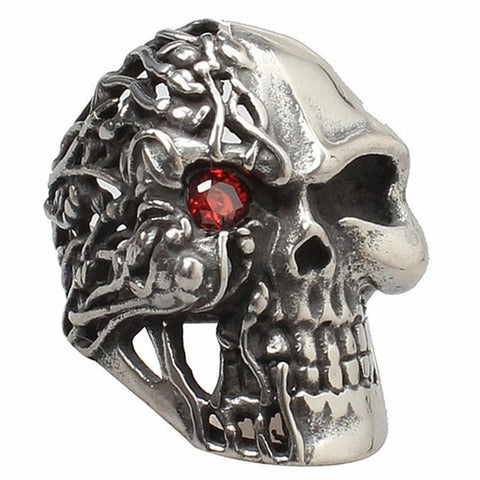 Double Face Skull Ring
