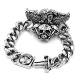 Detail of Clasp for the Engine Skull Bracelet