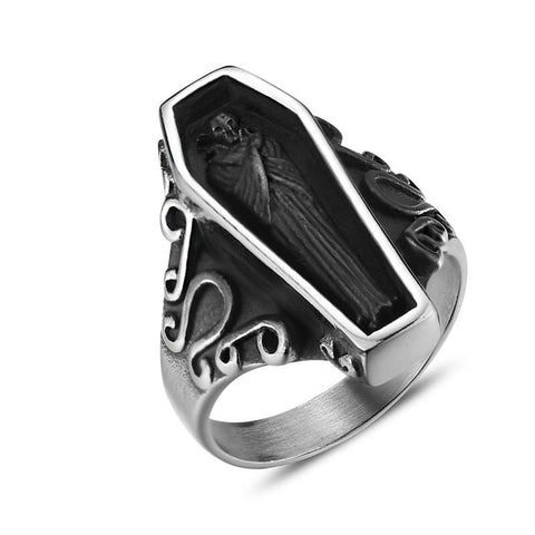 Gothic Coffin Ring