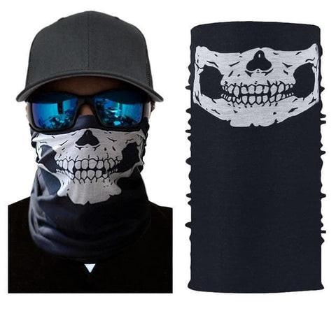 Half Face Skull Mask Motorcycle