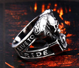 Live to Ride Skull Ring