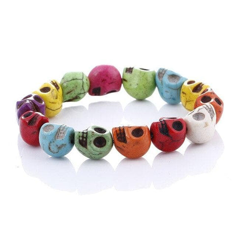 Multi Colored Skull Bracelet