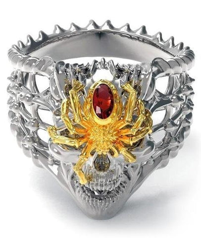 Big Silver Spider Ring