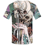 Skull Art T-Shirt Back