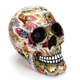 Skull with Flower Decor