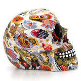 Skull with Flowers Painting Decor