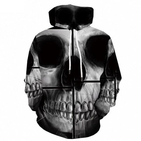 Skull Hoodie Big and Tall
