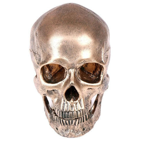 Skull Resin Bronze Color