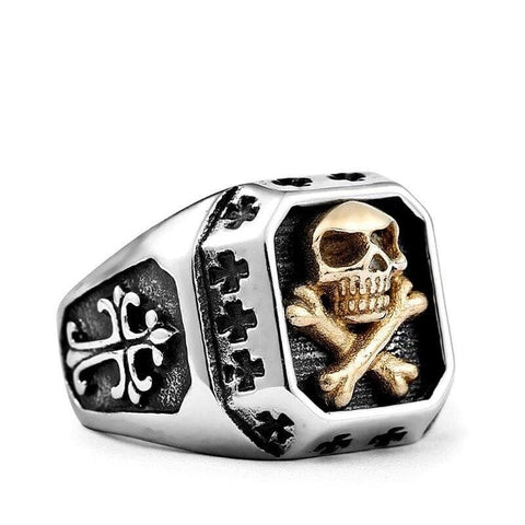 Skull and Crossbones Signet Ring
