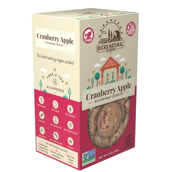 Cranberry-Apple Cookies by Bucks Natural Cookie Company, LLC