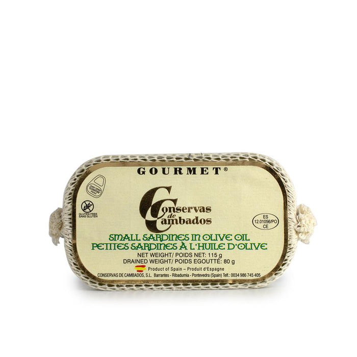 Gourmet Small Sardines in Olive Oil By Conservas Cambados