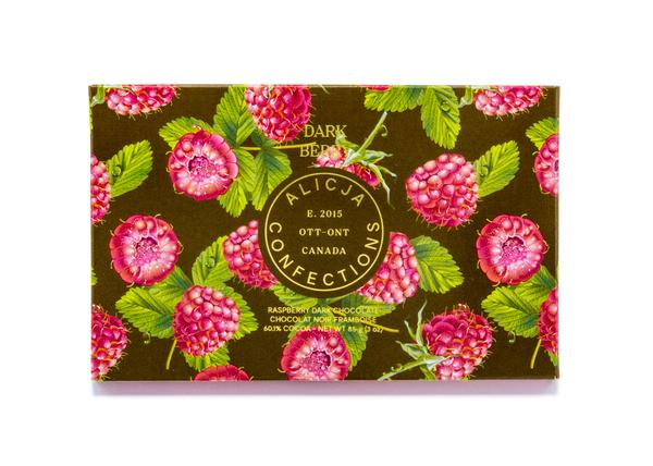 Dark Berry Postcard Chocolate by Alicja Confections