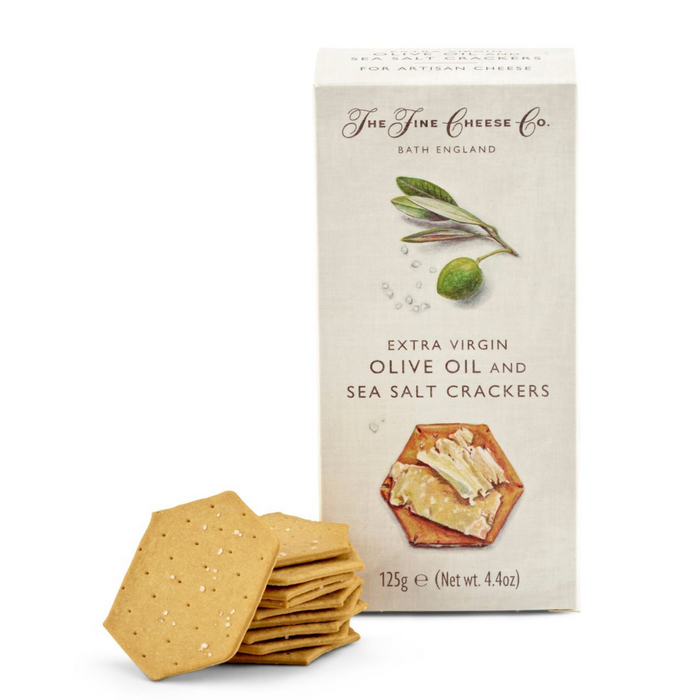 Extra Virgin Olive Oil & Sea Salt Crackers by  Fine Cheese Co.