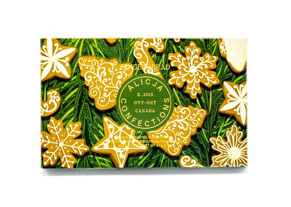 Gingerbread Postcard Chocolate by Alicja Confections