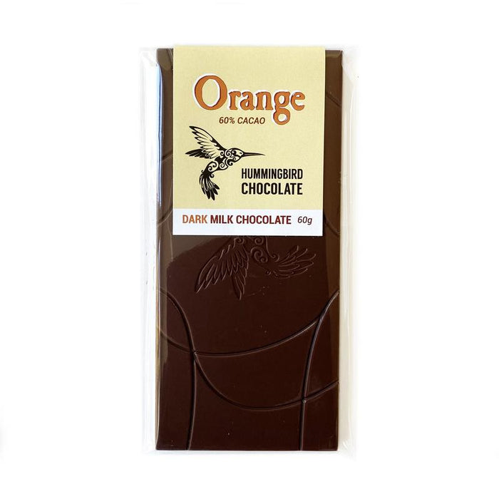 Orange Dark Milk Chocolate, 60% by Hummingbird Chocolate