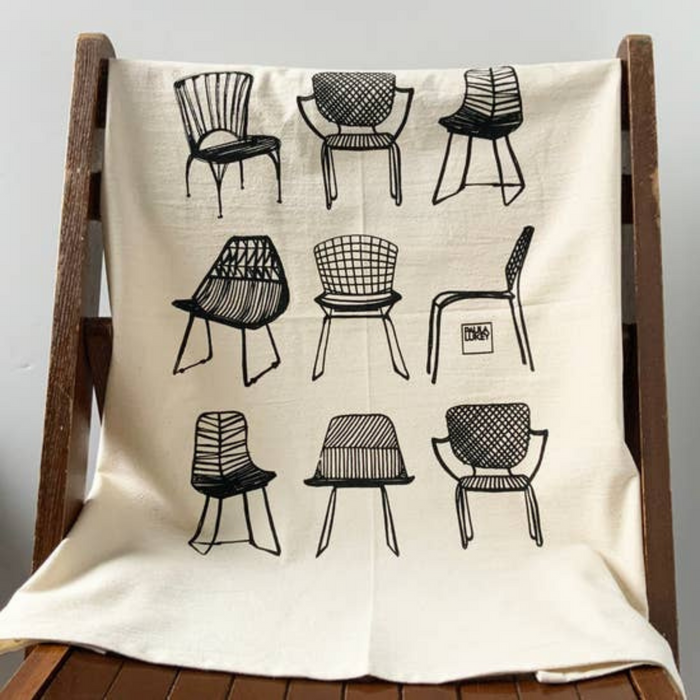 Modern Chairs Tea Towel by H A V Y N