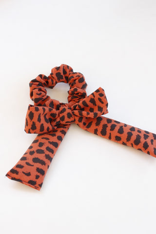 Tiger Queen Bow Scrunchie
