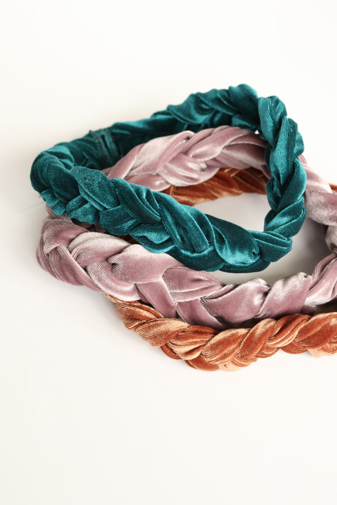 Nialla Velvet Braided Head-wrap