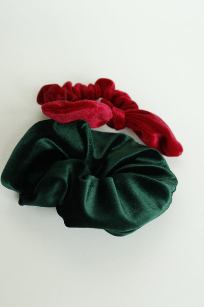 Emerald Green Velvet Extra Scrunchie