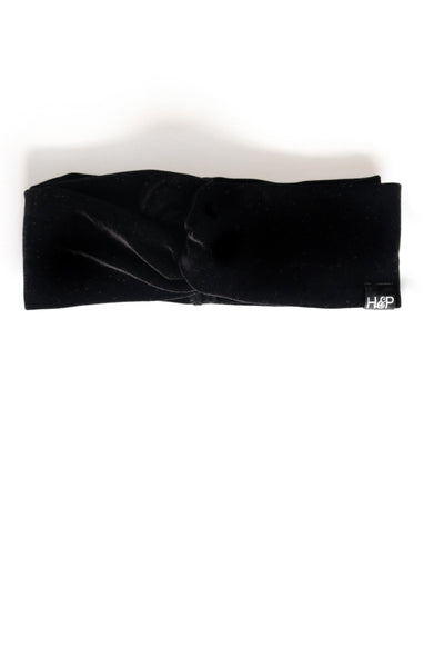 Black Velvet Turban Head-Wrap