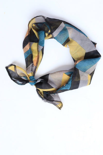 Geometric Block Party Hair Scarf