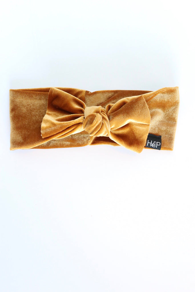 Roxie Gold Velvet Bow