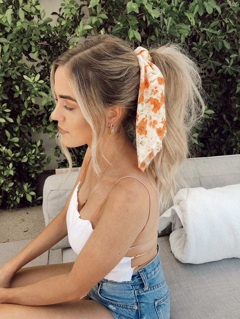 Peaches & Cream Hair Scarf