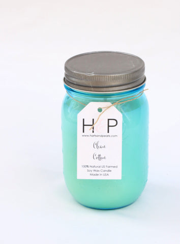 Clean Cotton Soy Wax Mason Jar Candle