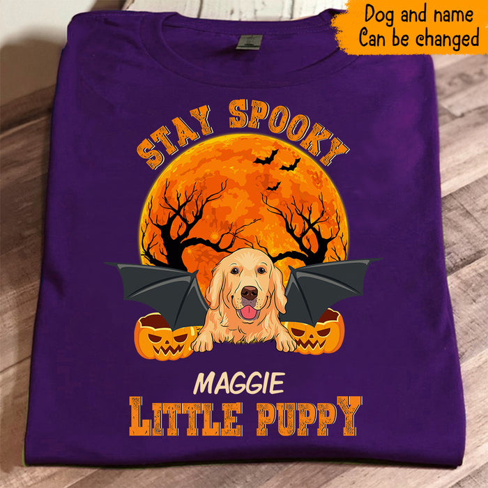 Custom Halloween Stay Spooky Little Puppy Dog Personalized