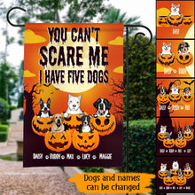 Load image into Gallery viewer, Custom Halloween You Can't Scare Me, I Have A Dog Personalized Garden Flag