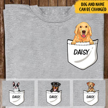 Load image into Gallery viewer, Custom Pet Pocket Personalized Shirt For Dog Lovers