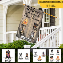 Load image into Gallery viewer, Custom Welcome To The Dogs House Personalized Double Sided Flag