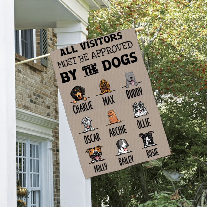 Custom Name All Visitor Must Be Approved Personalized Double Sided Flag For Dog Lovers