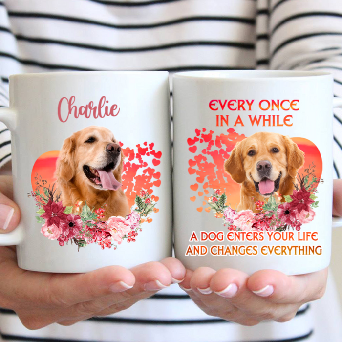 Custom Name Dog Changes Everything Personalized Dog Photo Mug