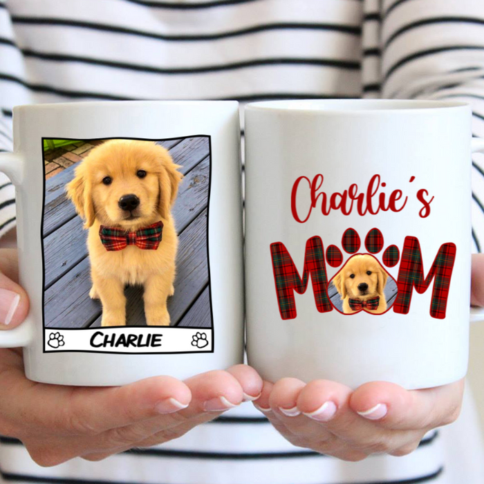 Custom Name Dog Mom Personalized Dog Photo Mug