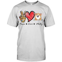 Load image into Gallery viewer, Custom Peace Love And Dogs Personalized For Dog Lovers