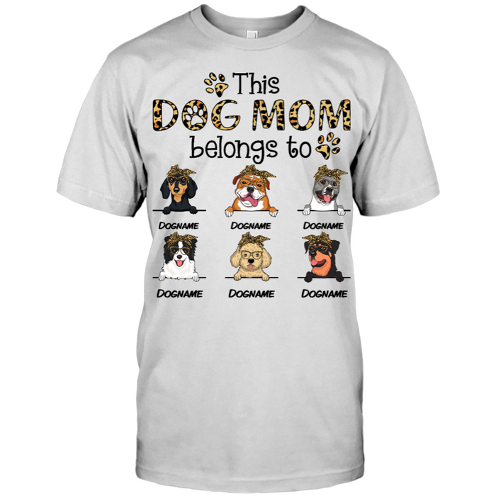 Custom Name This Dog Mom Belongs To Personalized T-shirt