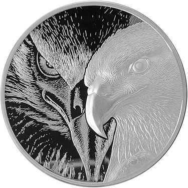 10 OZ SILVER ROUND MAJESTIC EAGLE INCUSED WITH ULTRA HIGH RELIEF