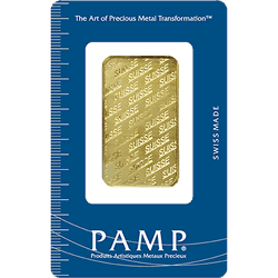 1 oz PAMP Suisse Gold Bar PAMP Design, w/ Assay .9999 Fine Gold