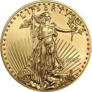 2020 1 oz Gold American Eagle $50 Coin BU - Certified Rare Coin Auctions