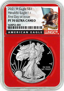 Presale - 2021-W Proof $1 American Silver Eagle NGC PF70UC FDI Black Label Red Core